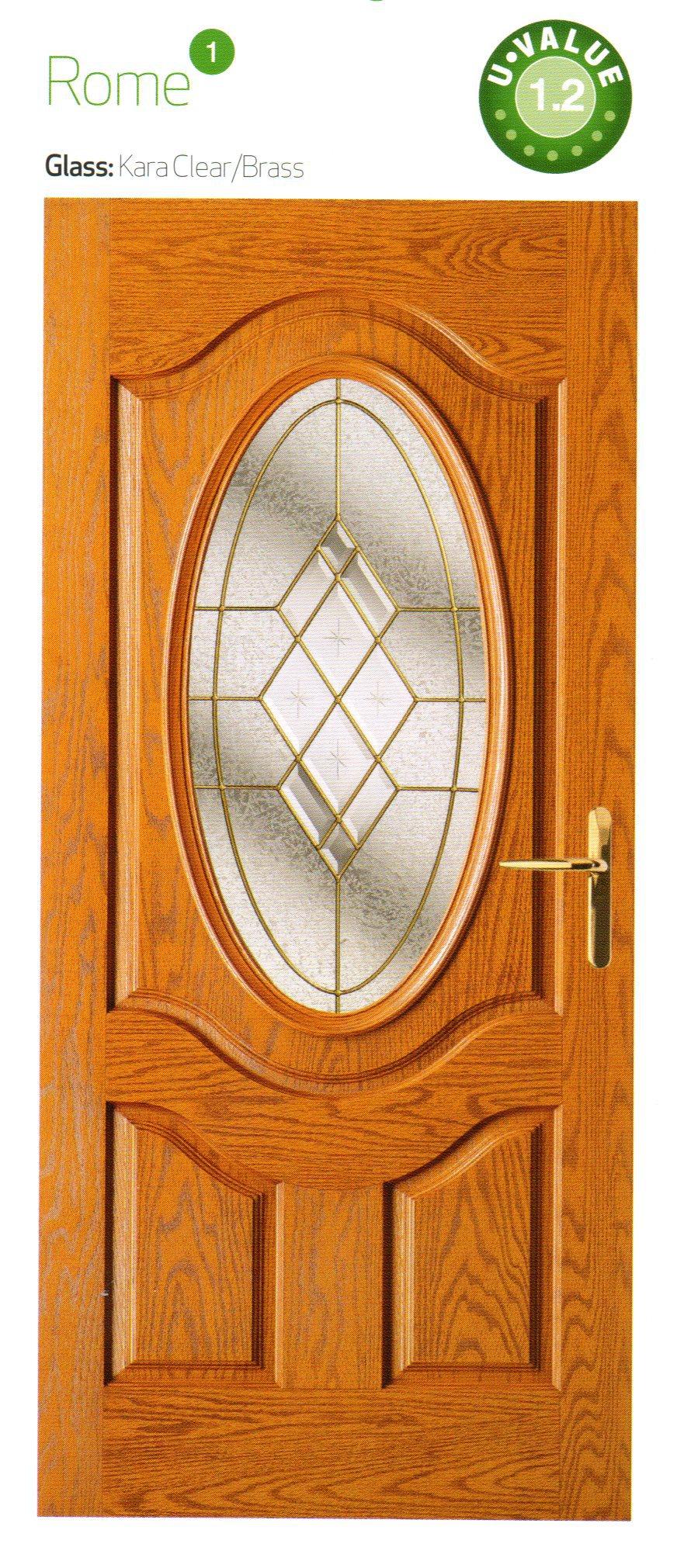 Brown color composite door
