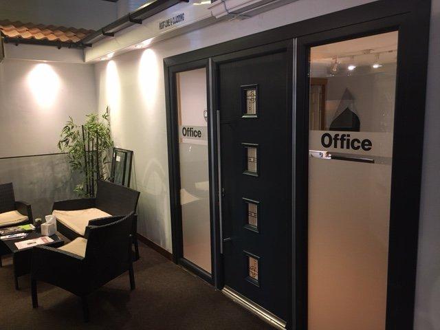 Black color office door