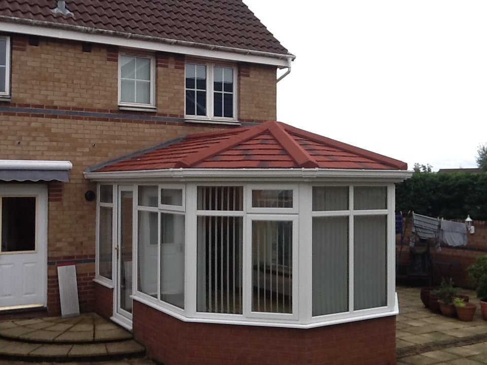 view of roof installed at a conservatories