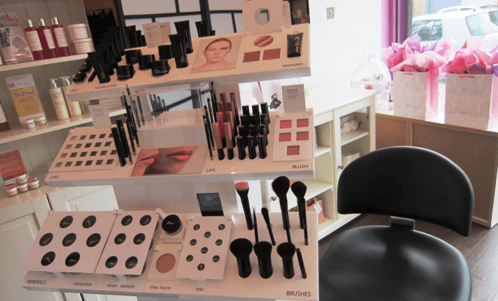 a set of beauty products