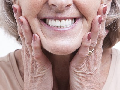 hanover dental care old woman smiling
