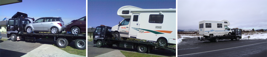 Montage of towing services in Auckland