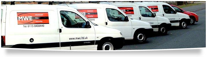 Security systems - Sheffield - MWE Ltd - Service vans