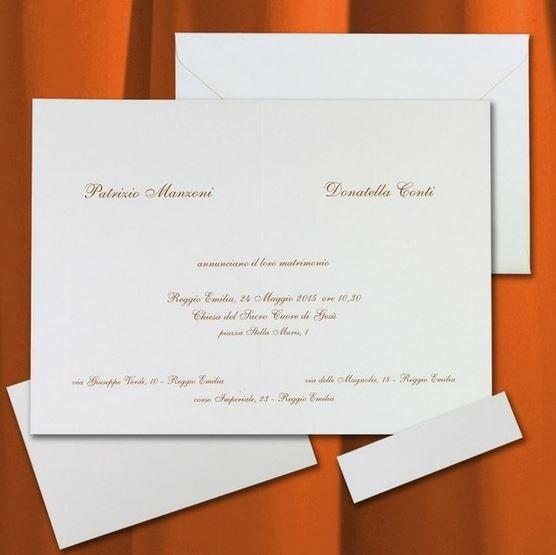 formati inviti di nozze