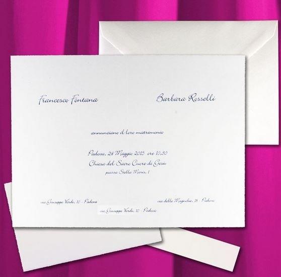 lettere di invito degli sposi