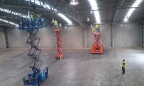 Our cleaning contractors removing high dust and cleaning a warehouse in Waikato