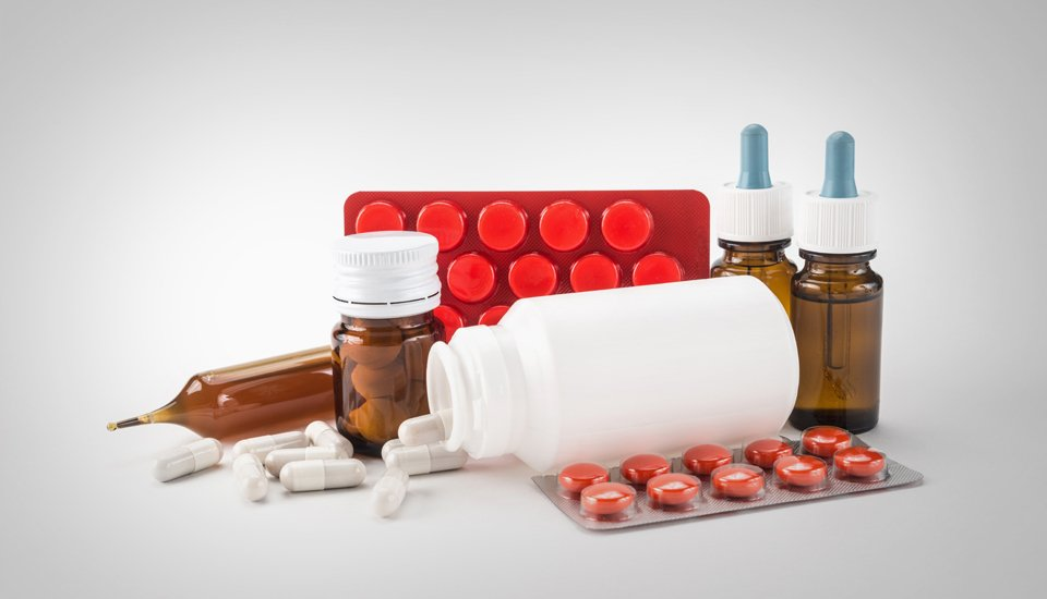 An assortment of medical pills, tablets and medicines