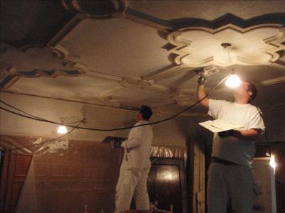 Damaged plaster repair service