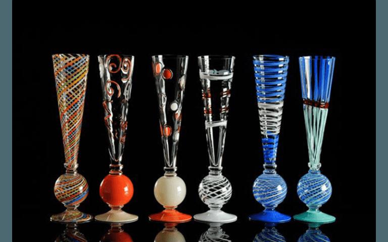CARLO MORETTI bicchieri da collezione in vetro di murano