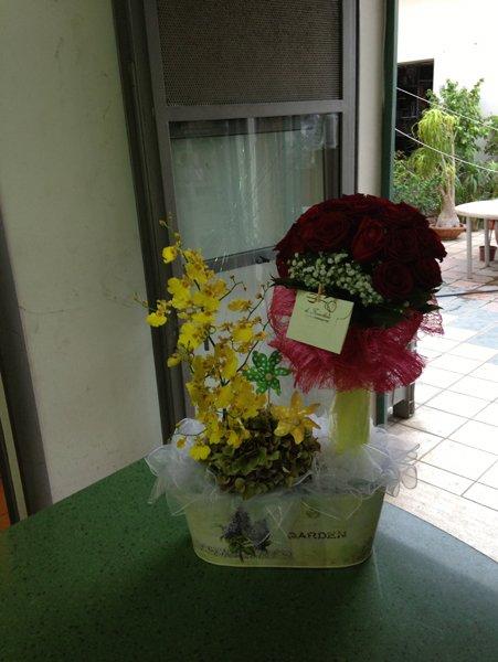 composizione floreali personalizzate bouchet di rose