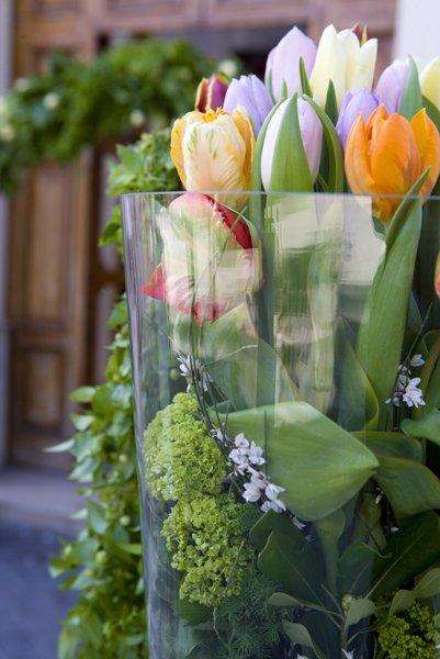 addobbo personalizzato con tulipani