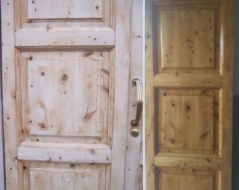 restauro e verniciatura porte e portoni