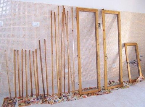 restauro e verniciatura finestre