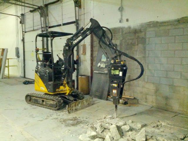 Professional concrete drill