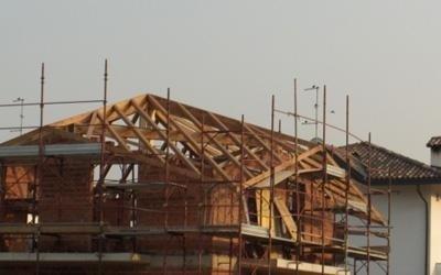 Panoramica scheletro tetto a rombo - Varese
