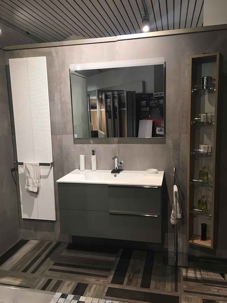 Mobile bagno Isa termoarredo antras Piastrelle ABK