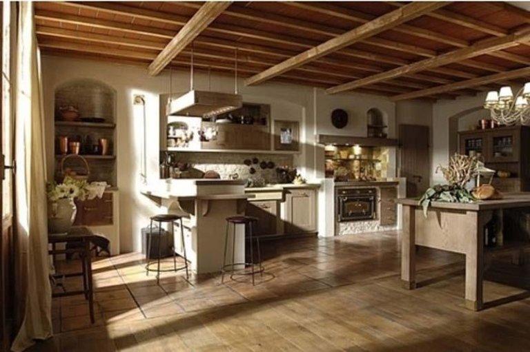 cucina ambiente rustico