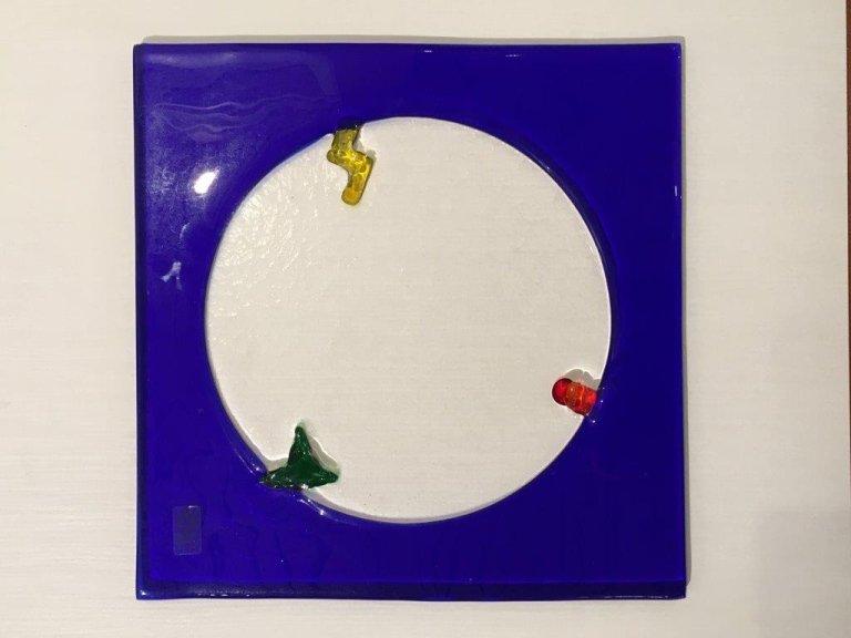 Leucos Blu con cerchio cm. 37x37 da Marino srl Abbiategrasso Milano