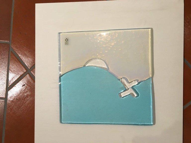 Leucos Azzurro+trasparente onde 37X37 cm da Marino srl Abbiategrasso Milano