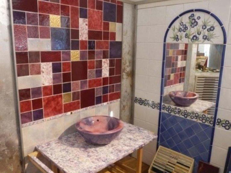 lavabo con specchiera