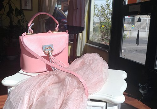 una borsa rosa