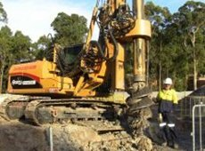 a access piling and rock drilling close up of drill