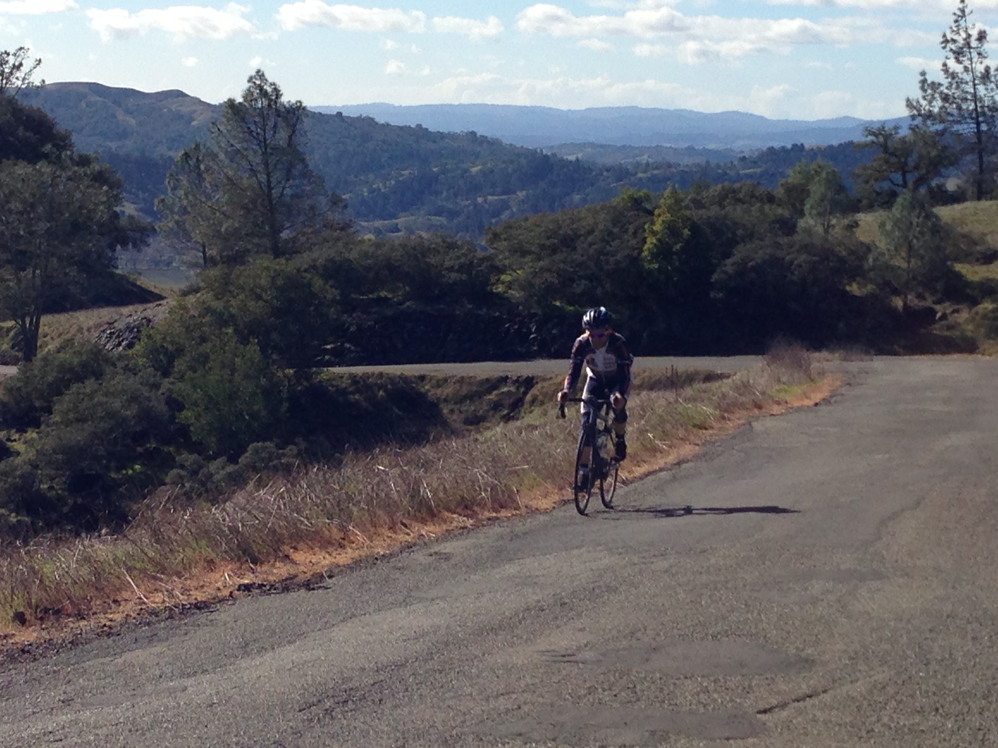 cyclist riding at cycling camp in California