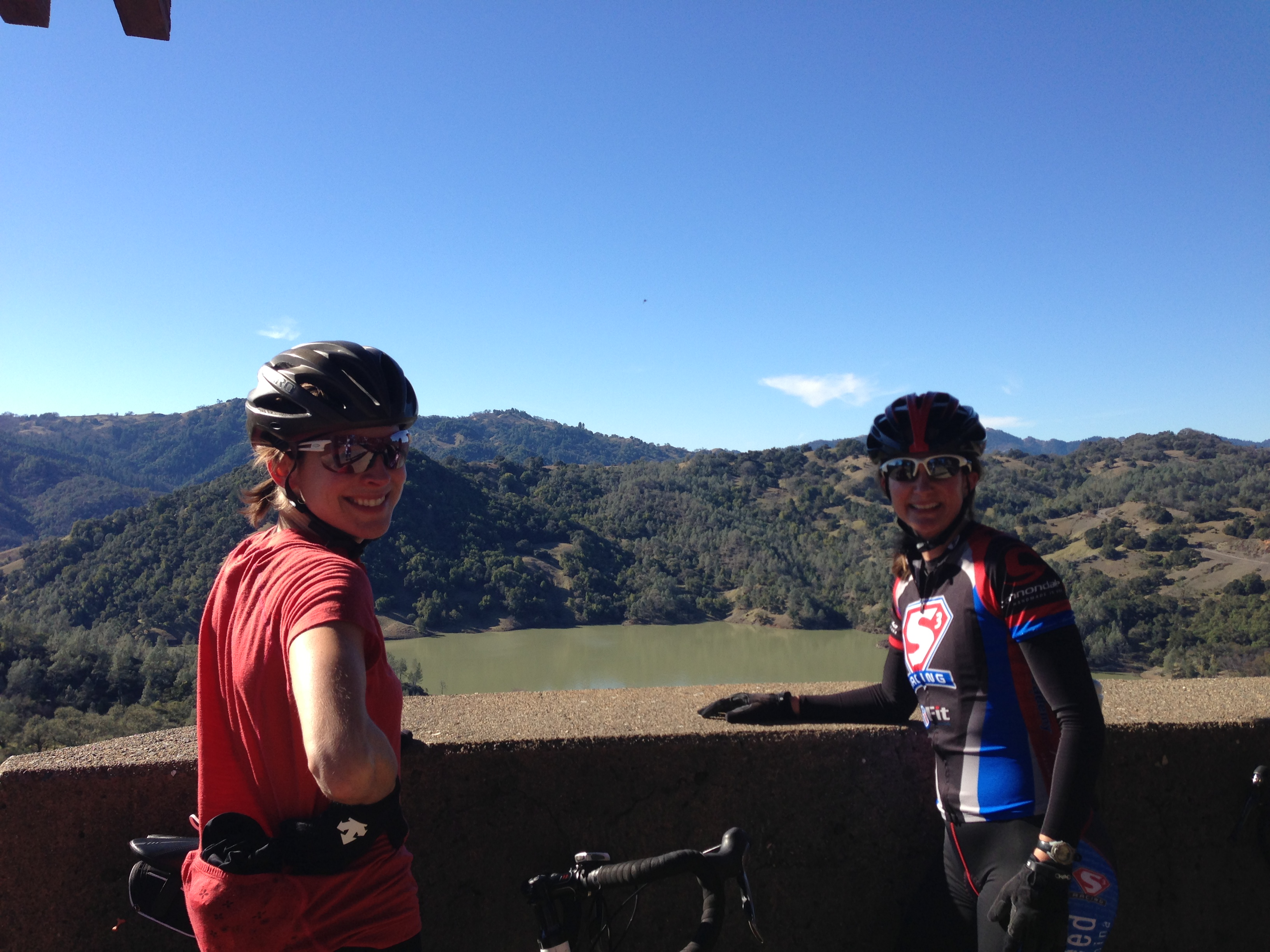 women cycling campers at cycling camp in California