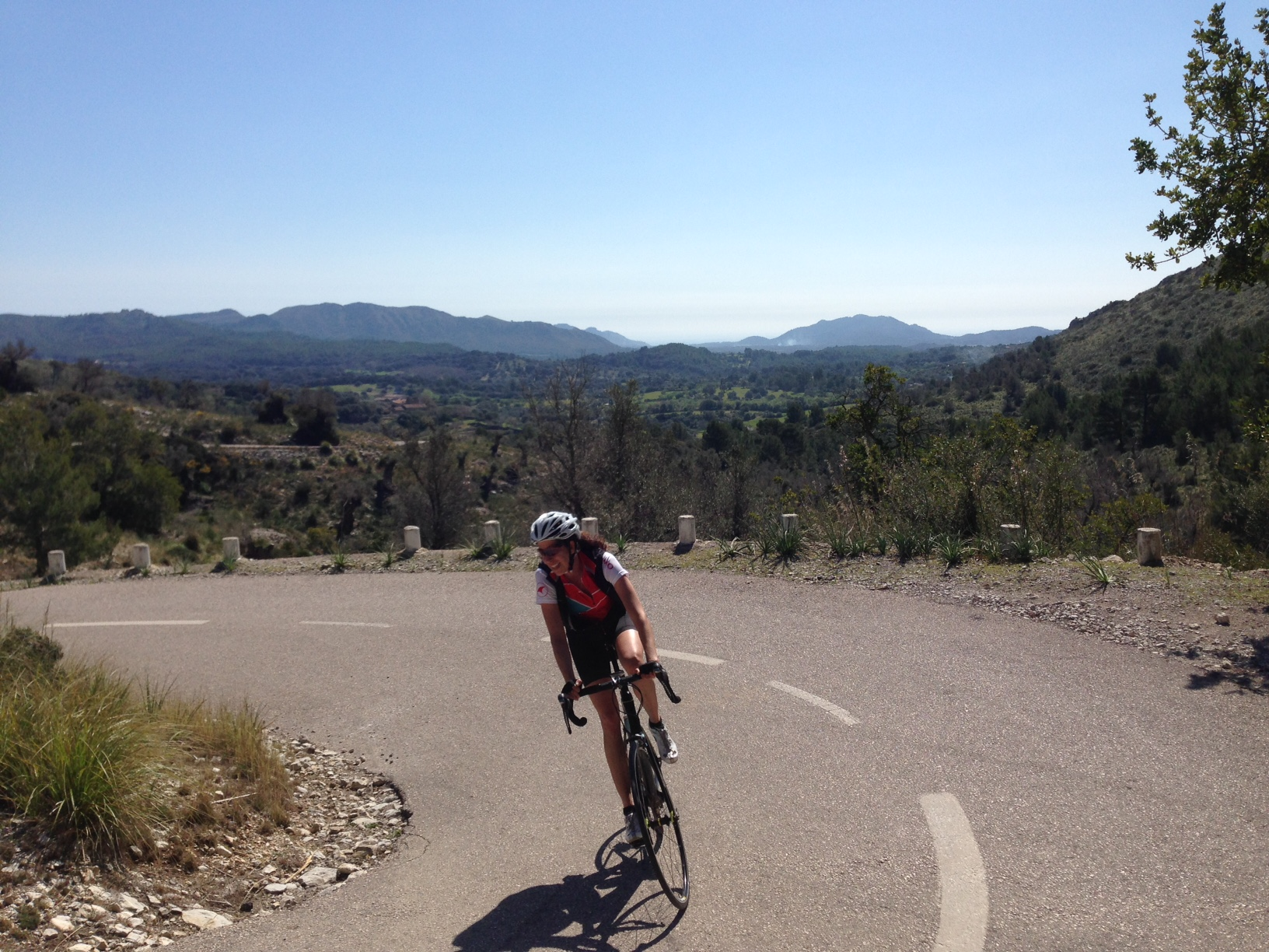 Cyclist riding at cycling camp in Spain