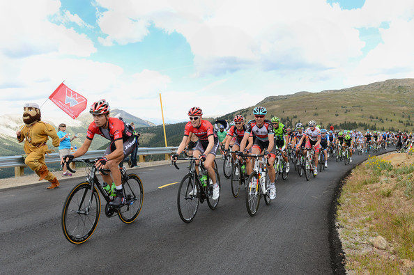 pro cyclist Carson Miller races and leads peloton