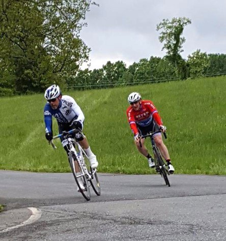BJ Basham rides in a cycling race