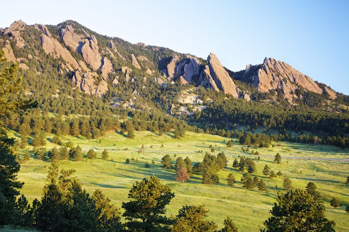 mountains seen at cycling camp in Boulder Colorado