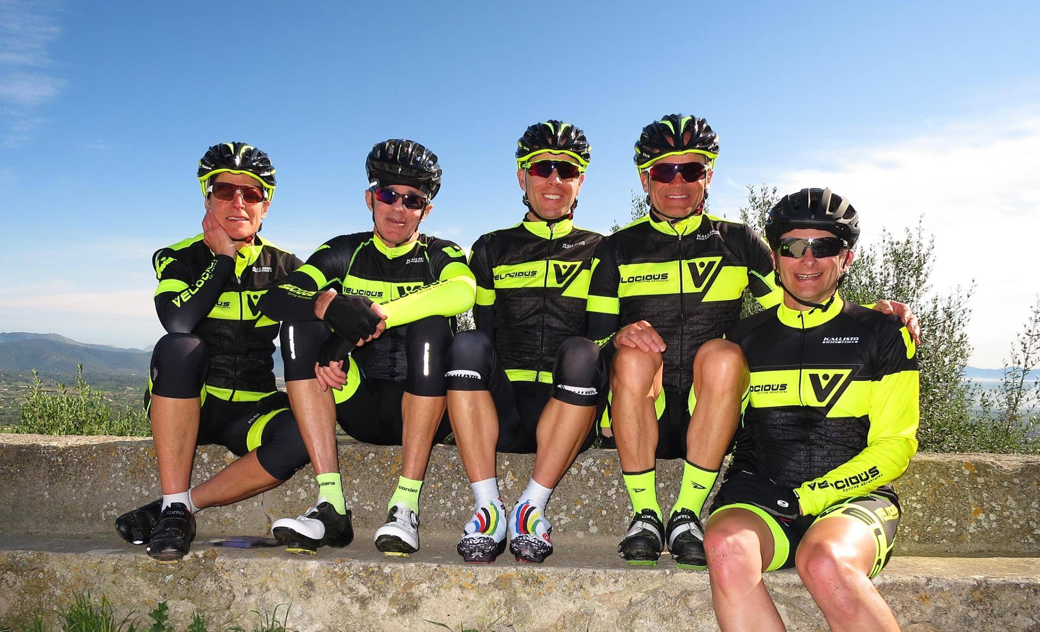 Velocious coaching guide team for cycling camps