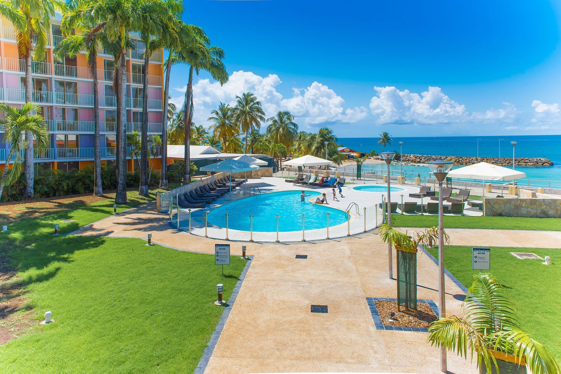 beach resort at cycling camp in Guadeloupe
