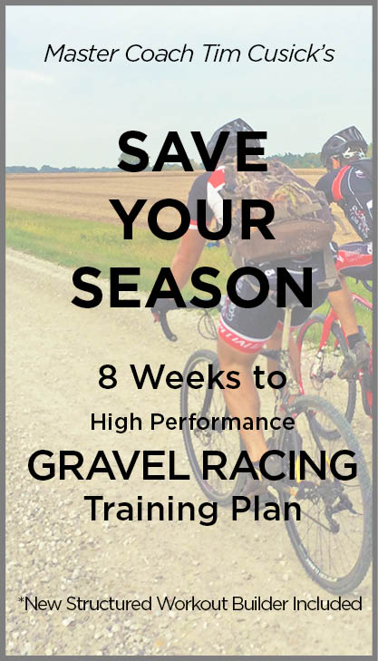Save Your Season gravel cycling training plans