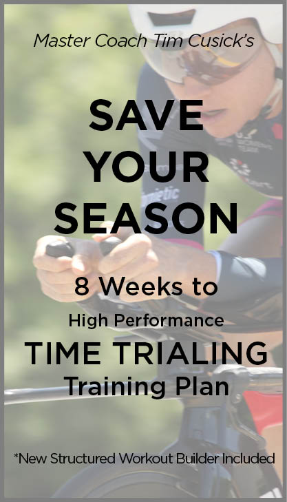 Save Your Season time trial cycling training plans