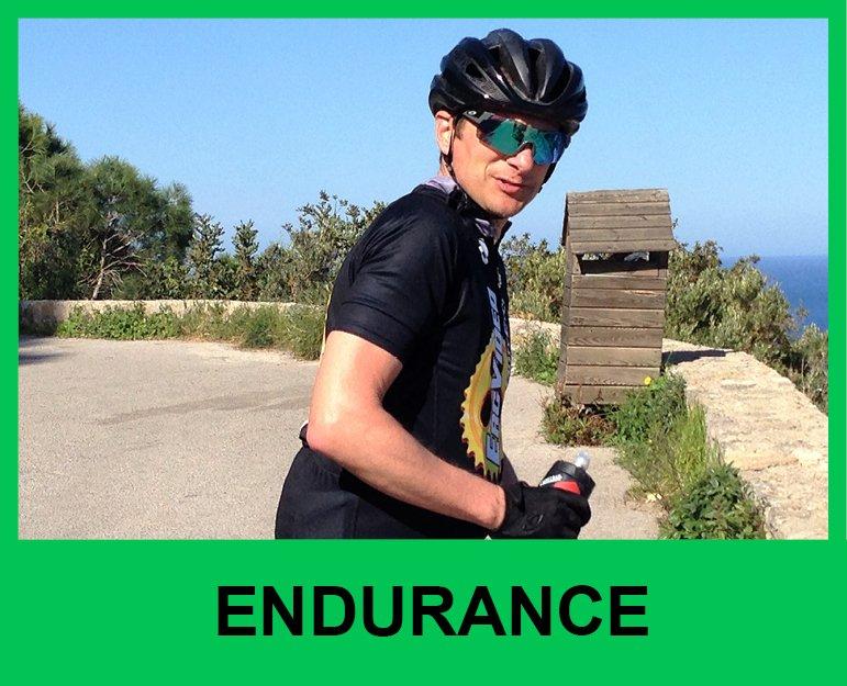 Cyclist in Spain endurance level rides
