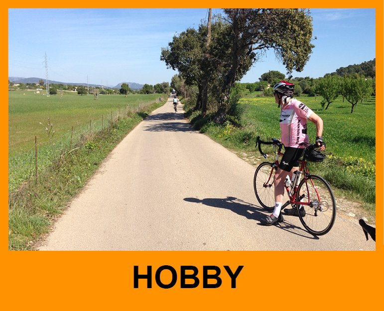 Cyclist riding in Spain hobby level rides