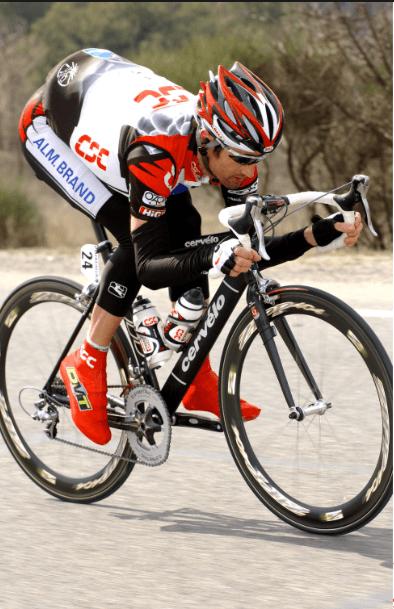 Cyclist on racing bike