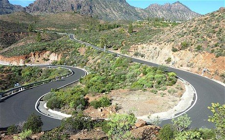 cycling routes in Gran Canaria Spain