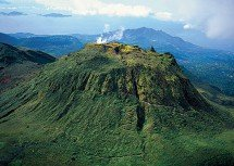Soufriere volcano seen at cycling camp in Guadeloupe
