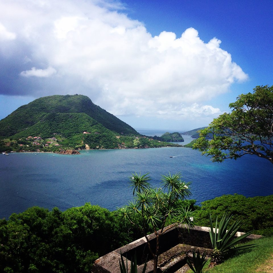 View from mountains at cycling camp in Guadeloupe
