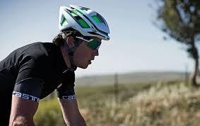 Cyclist wearing Smith helmet