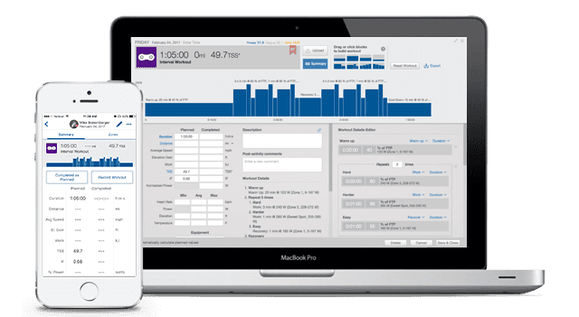 TrainingPeaks structured workout builder