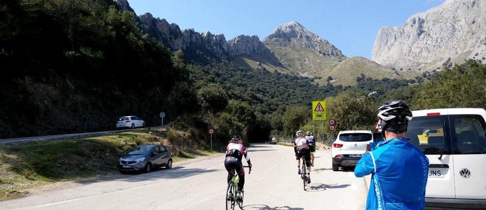 cyclists riding at cycling camp in mallorca