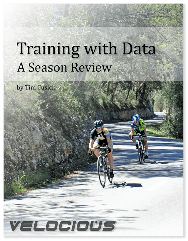 Training with Data - A Season Review - ebook by Tim Cusick