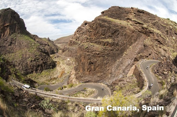 Cycling camp route in Gran Canaria Spain