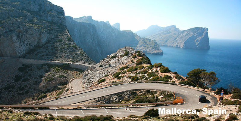 Cycling camp route in Mallorca Spain