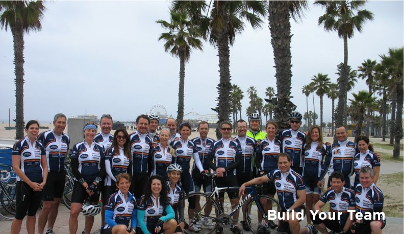 Cycling team picture at cycling training camp