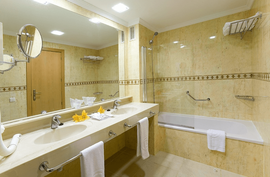 premium bathroom at Gloria Palace cycling camp in Gran Canaria Spain